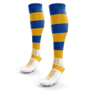 Amber Royal Hooped Rugby Socks